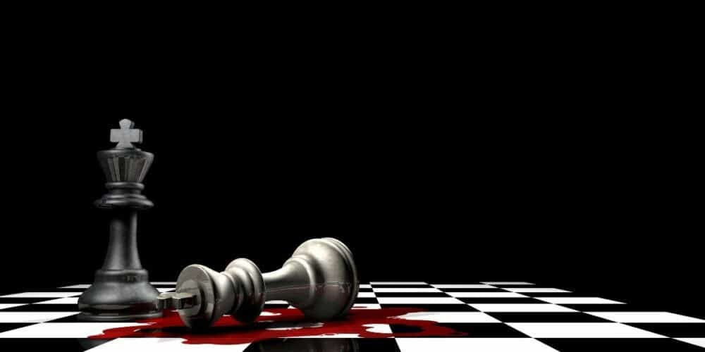 chess king killing another king