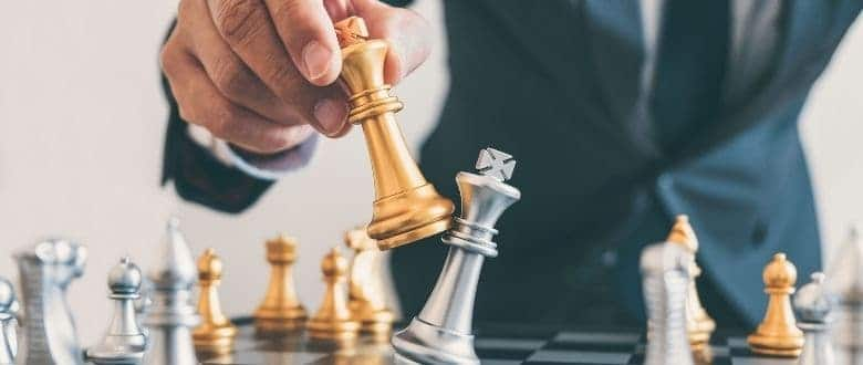 What does checkmate mean in chess?