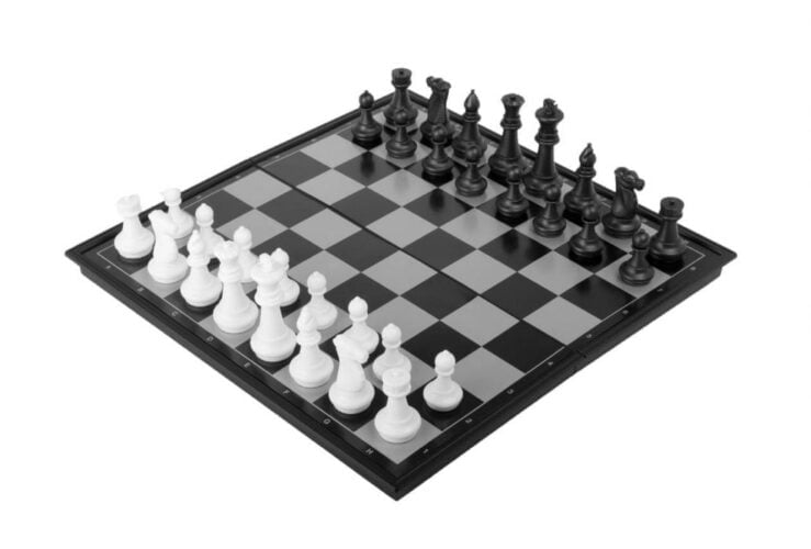 Magnetic travel chess & checkers set